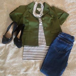 Anne Taylor Loft Petite Short Sleeve Blazer